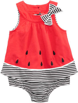 First Impressions Watermelon Cotton Skirted Sunsuit, Baby Girls (0-24 months), Created for Macy's