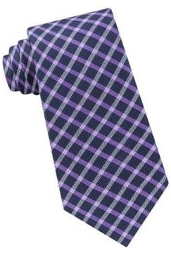 Lord & Taylor The Mens Shop Check Silk Tie