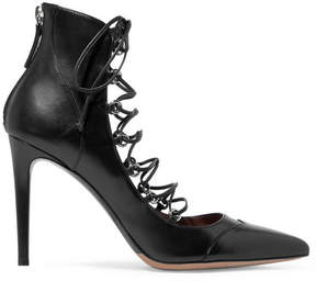 Tabitha Simmons Yana Lace-up Leather Pumps - Black