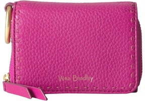 Vera Bradley RFID Mallory Card Case Credit card Wallet - WILD BERRY - STYLE