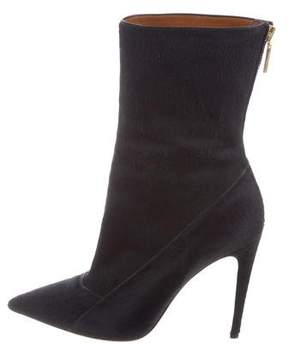 Calvin Klein Collection Ponyhair Pointed-Toe Boots