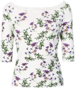 Blumarine floral off shoulder top