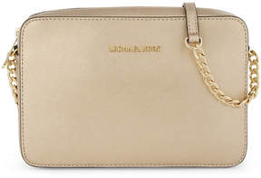 MICHAEL Michael Kors Jet Set leather cross-body bag - PALE GOLD - STYLE