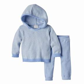 Cuddl Duds Baby Boy Hooded Sweater & Pants Set