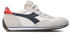 Diadora Heritage Men's White Cotton Sneakers.