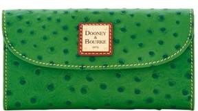 Dooney & Bourke Ostrich Continental Clutch Wallet - GREEN - STYLE