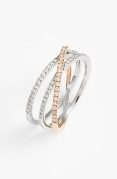 Bony Levy Women's Crossover Three-Row Diamond Ring (Nordstrom Exclusive)