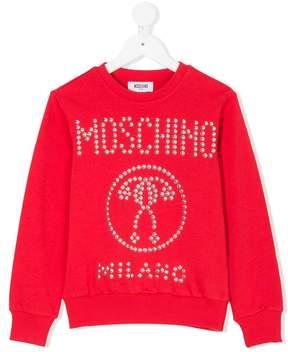 Moschino Kids embellished logo sweatshirt