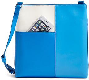 Vera Bradley Color Block Blue & Off-White Composition Crossbody Bag - COLOR - STYLE