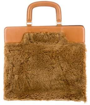 Dries Van Noten Faux Fur Handle Bag w/ Tags