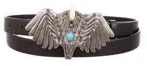 Valentino Leather Hawk Belt w/ Tags