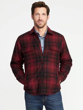Old Navy Plaid Brushed Twill Zip Shirt Jacket for Men