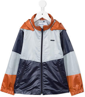 Familiar colour block raincoat