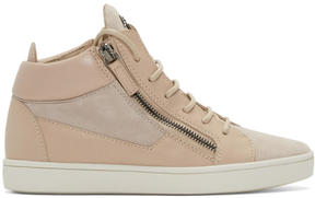 Giuseppe Zanotti Pink London Mid-Top Sneakers