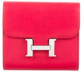 Hermes Constance Compact Wallet - RED - STYLE