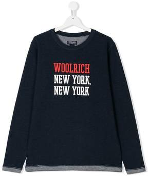 Woolrich Kids TEEN New York print sweatshirt
