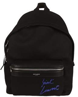 Saint Laurent Women's Black Leather Backpack. - BLACK - STYLE