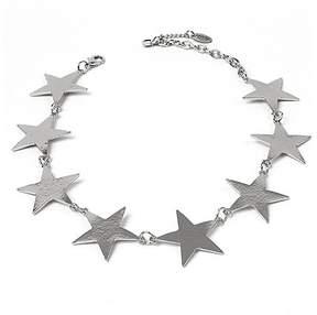 Amrita Singh Silvertone Star Girl Choker Necklace