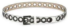 Steve Madden Two-Tone Grommet Belt
