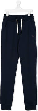 Gant Kids Teen logo embroidered track pants
