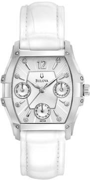 Bulova Watch - Women's Wintermoor White Leather - 96P126