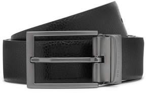 HUGO BOSS 3.5cm Black And Brown Olarion Reversible Full-Grain Leather Belt