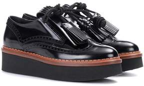 Tod's Leather platform Derby shoes