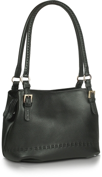 Fontanelli Black stiched Soft Leather Handbag
