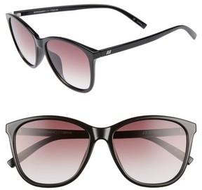 Le Specs Women's Entitlement 57Mm Sunglasses - Black