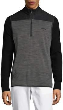 Callaway Men's Heathered Quarter-Zip Vest