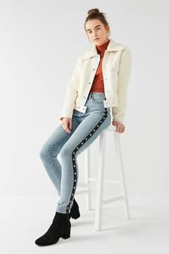BDG Twig High-Rise Skinny Jean – Grommet Stripe