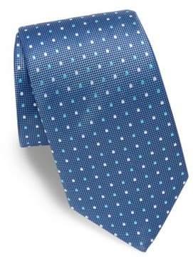 Eton Embroidered Dot Silk Tie
