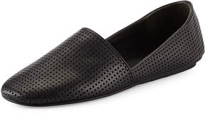 Vince Bogart Perforated Leather Flat, Black