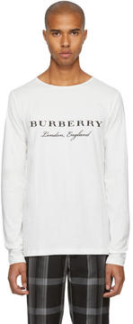 Burberry Off-White Long Sleeve Tunley T-Shirt
