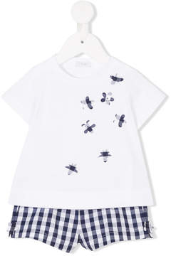 Il Gufo gingham T-shirt and short set