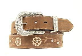 Ariat Western Belt Womens Embroidered Scroll Flowers S Brown A1510202
