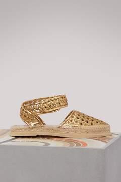 Stella McCartney Metallic flat sandals