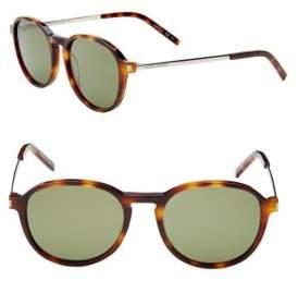 Saint Laurent 51MM Round Sunglasses