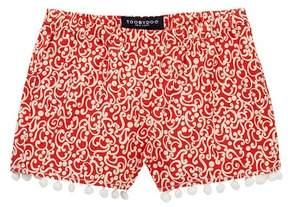 Toobydoo Serenity Printed Pompom Shorts (Toddler, Little Girls, & Big Girls)