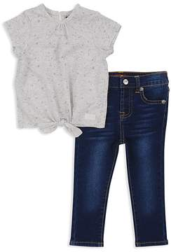 7 For All Mankind Girls' Tie-Front Tee & Skinny Jeans - Baby