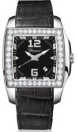 Chopard Two o Ten Black Dial Diamond Ladies Watch