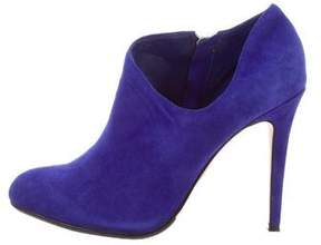 Saks Fifth Avenue Suede Round-Toe Booties