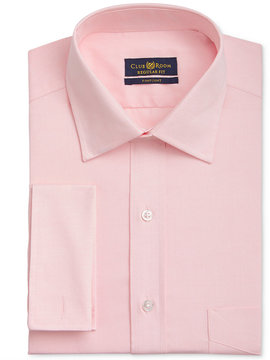Club Room Men's Classic/Regular Fit Wrinkle Resistant Pink French Cuff Dress Shirt, Created for Macy's