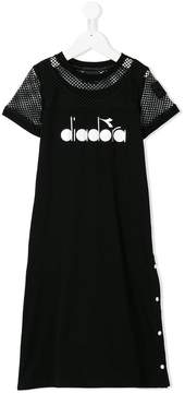 Diadora Junior mesh panel T-shirt dress