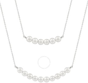 Bella Pearl Layered Double Sterling Silver Pearl Necklace