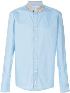 Kolor contrast collar shirt