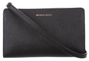 MICHAEL Michael Kors Leather Crossbody Bag - BLACK - STYLE