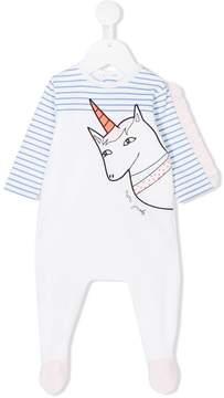 Little Marc Jacobs unicorn striped pyjamas