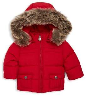 Tartine et Chocolat Baby's Padded Faux Fur Trimmed Down Jacket