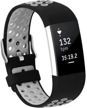 Fitbit Adepoy Soft Silicone Replacement Sport Wrist Bands Strap for Charge 2 (Gray, Large)